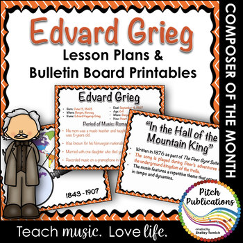 Musician of the Month: EDVARD GRIEG - Lesson Plans & Bulle