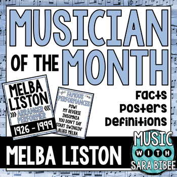 Musician of the Month: Melba Liston Bulletin Board Pack