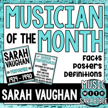 Musician of the Month: Sarah Vaughan Bulletin Board Pack