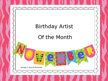 Musician's of the Month November