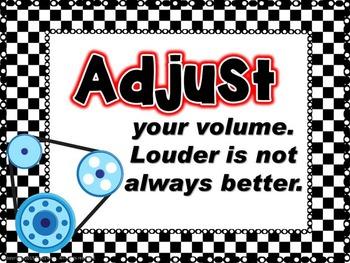 Musician's Tune-Up Racing Themed Bulletin Board