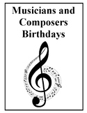 Musicians and Composers Birthdays