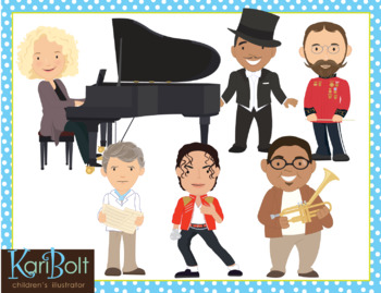 Musicians and Composers Clip Art