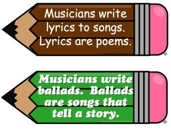 Musicians are Writers Bulletin Board Kit