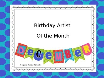 Musicians of the Month December