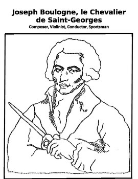 Music Coloring Page - Joseph Boulogne