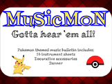 Musicmon- Pokemon Music Themed Bulletin Board