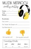 Musik Mittwoch Sentence Starters