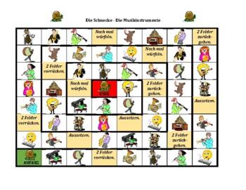 Musikinstrumente (Musical instruments in German) Schnecke Snail game