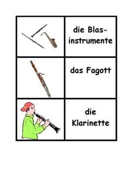 Musikinstrumente (Musical instruments in German) Concentration games