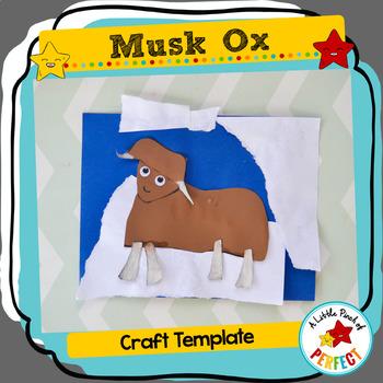 Musk Ox Arctic Animal Craft Template