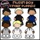 Muslim Boys Finger Puppets (Scribble Clips)