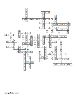 Muslim Civilizations Vocabulary Crossword for World History