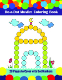 Muslim Do-a-Dot Coloring Book, 20 pages to use with Dot Markers or Play Doh