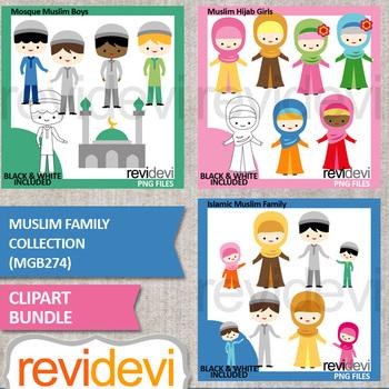 Muslim Family clipart bundle (Islamic clip art)