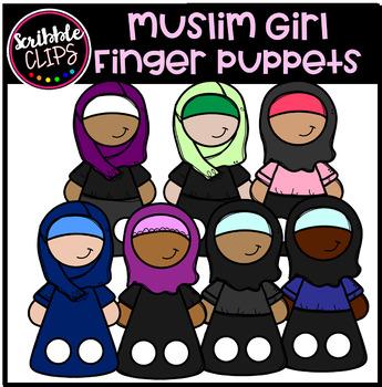 Muslim Girls Finger Puppets (Scribble Clips)