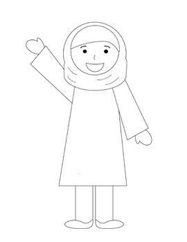 Muslim Kids Clipart