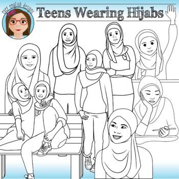 Muslim Teens Wearing Hijabs