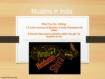 Muslims in India Powerpoint Lesson