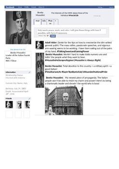 Mussolini Facebook Page