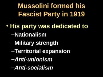 Mussolini, Macho Man