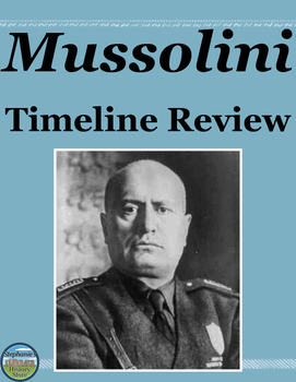 Mussolini Review Timeline
