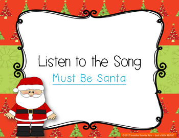 Must Be Santa -- A Christmas Song w/ instrument accompaniment {steady beat}