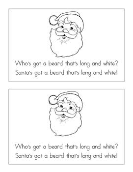 Must Be Santa Coloring Book Christmas Song or Poem