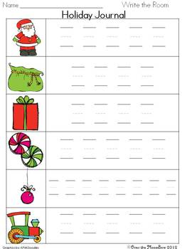 Must Be Santa Write / Stamp the Room Activity Pack