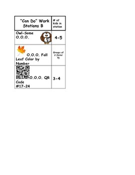 Must Do Can Do Math Centers Template