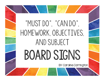 Classroom Board Labels