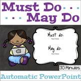 Must Do May Do Automatic PowerPoint