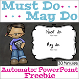 Must Do May Do Automatic PowerPoint Freebie