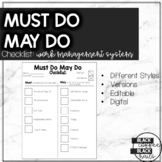 Must Do May Do Checklist