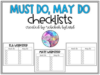 Must Do May Do Checklists