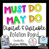 Must Do May Do Digital & Editable Rotation Board- 4 Group Sizes Available
