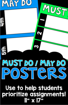 Must Do/May Do Posters