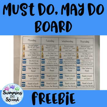 Must Do, May Do editable template (freebie)