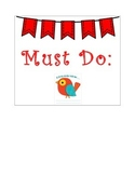 Must Do and May Do Cute Pennant Banner with