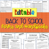 EDITABLE Back to School Forms and Handbook {for Special Education Classes!}