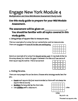Must Have: Engage New York 3rd Grade Math Study Guides Module 4