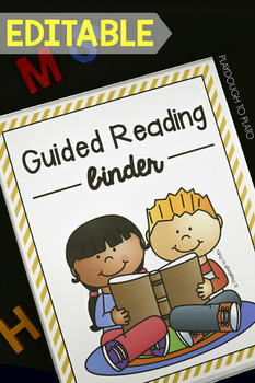 EDITABLE Guided Reading Binder