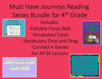 Must Have Journeys Reading Series Bundle for 4th Grade
