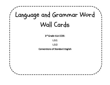 Must Have Language & Grammar Word Wall Cards - 3rd ELA Conventions of English