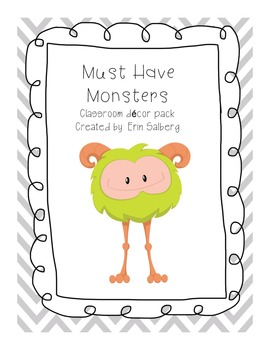Must Have Monster Classroom decor pack