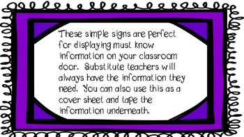 Must Have Simple Signs for the Classroom