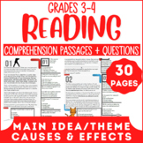 Reading Comprehension Passages | Main Idea & Theme | Cause & Effect | Grade 3-4
