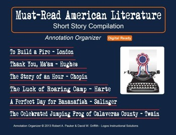 AMERICAN LITERATURE MUST READS: Short Story Compilation