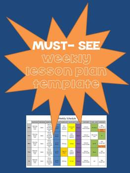 Must-See Weekly Lesson Plan Template