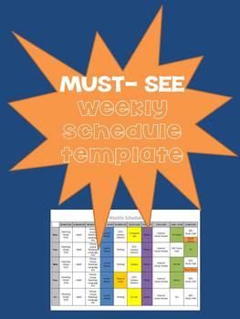 Must-See Weekly Schedule Template